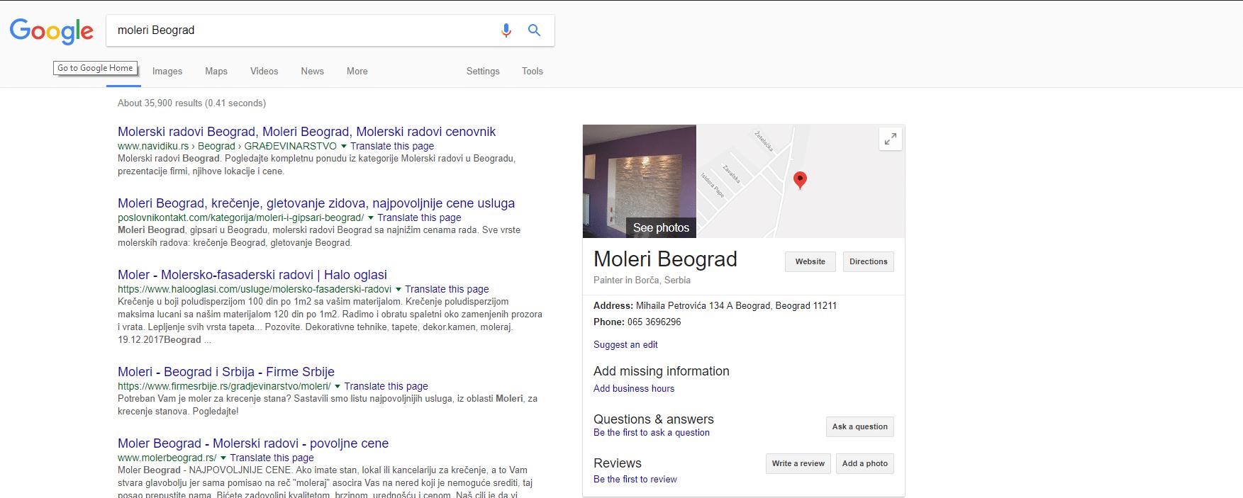 Olgasi Molerske radove